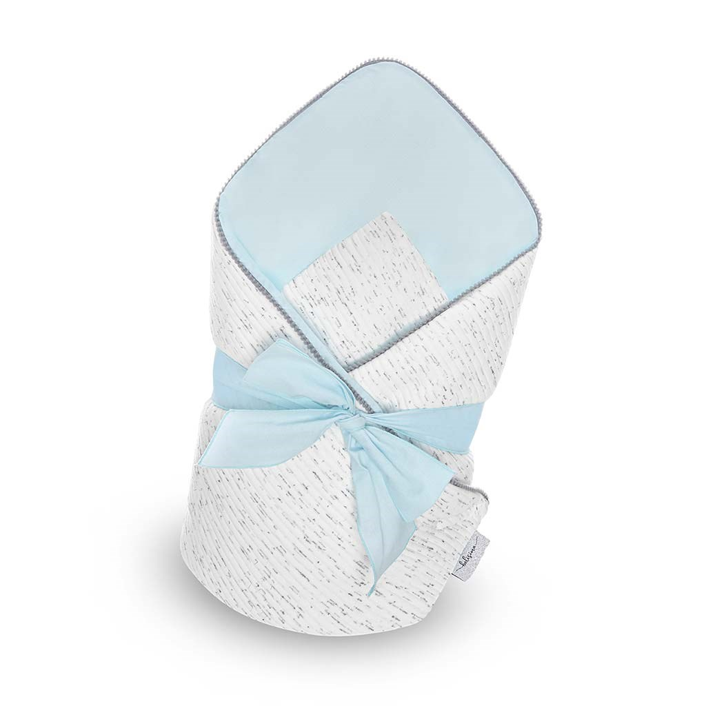 Luxusní zavinovačka s mašlí Belisima Enzo - modrá