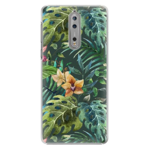Plastové pouzdro iSaprio - Tropical Green 02 - Nokia 8