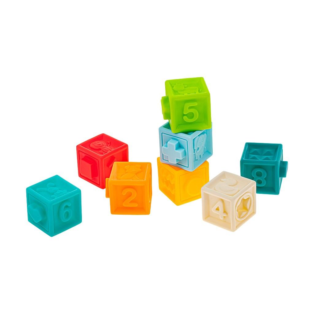 Sada senzorických hraček 8ks Akuku - kostky - dle obrázku