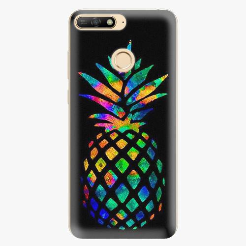 Plastový kryt iSaprio - Rainbow Pineapple - Huawei Y6 Prime 2018