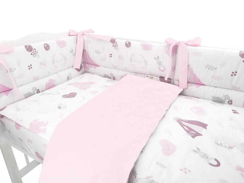 baby-nellys-3-dilna-sada-mantinel-s-povlecenim-new-love-baby-ruzova-135x100-cm-135x100