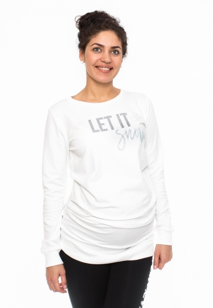 Těhotenské triko, mikina Let it Snow
