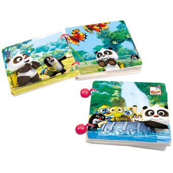 Krtek a Panda, dřevěná knížka s příběh.