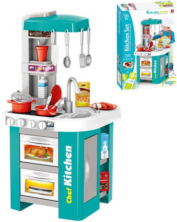 Kuchyňské studio dětské moderní 73x35x33cm kuchyňka na baterie Světlo Zvuk