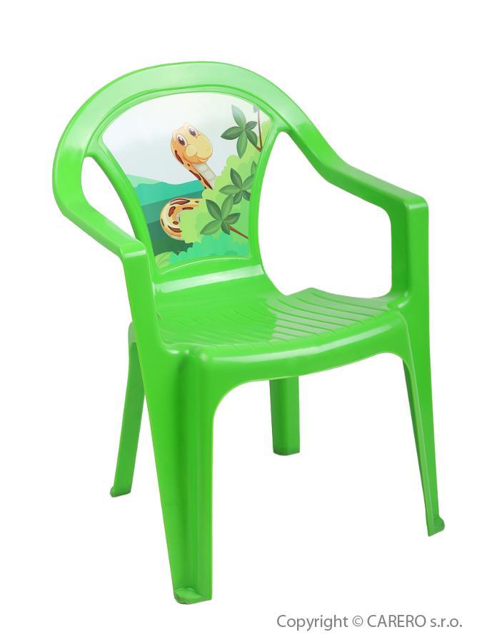Dětský zahradní nábytek - Plastová židle - zelená