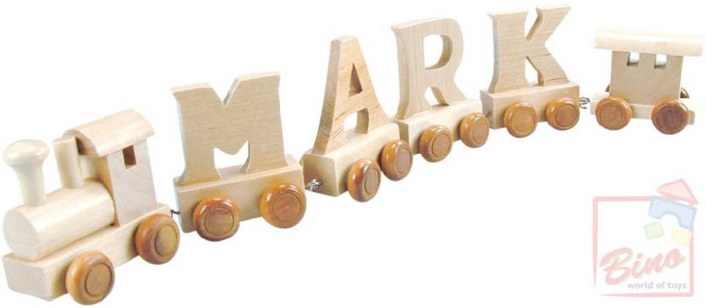 BINO DŘEVO Vagónek písmeno K doplněk k vláčku s abecedou