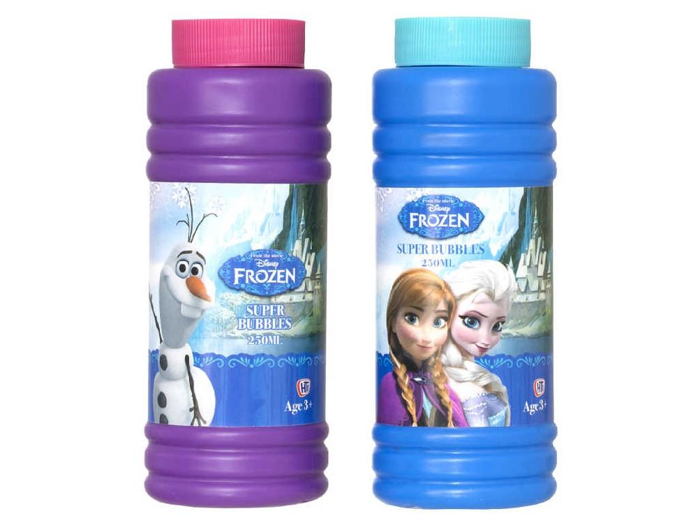 Náplň do bublifuku 250ml plastová láhev Frozen (Ledové Království) 2 barvy
