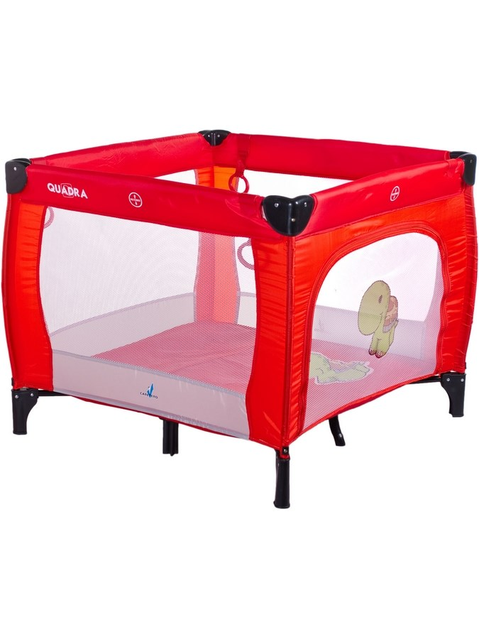 Dětská skládací ohrádka CARETERO Quadra - red - červená