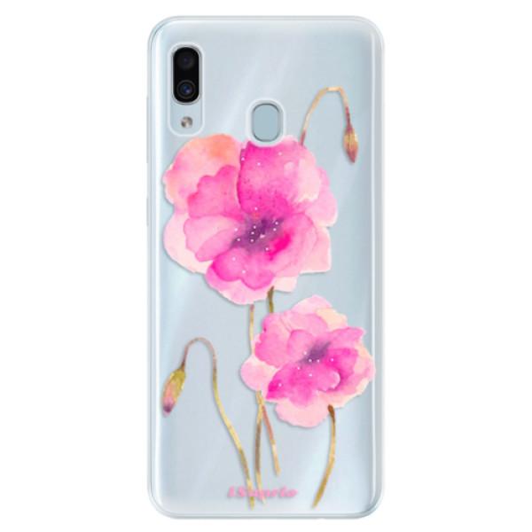 Silikonové pouzdro iSaprio - Poppies 02 - Samsung Galaxy A30