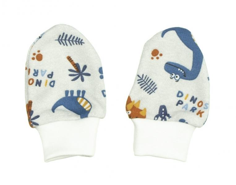 MBaby Kojenecké rukavičky DINO - 0/3měsíců