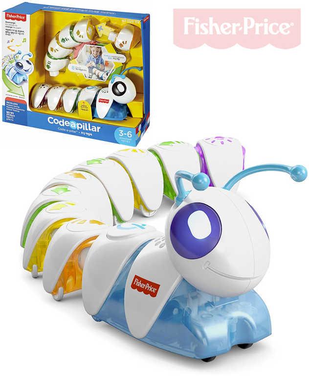 FISHER PRICE Baby housenka Code-A-Pillar spojovací na baterie pro miminko
