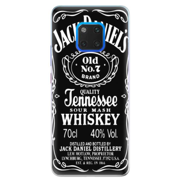 Silikonové pouzdro iSaprio - Jack Daniels - Huawei Mate 20 Pro