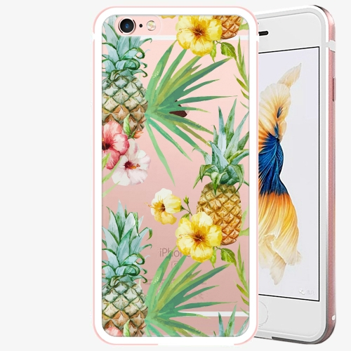 Plastový kryt iSaprio - Pineapple Pattern 02 - iPhone 6 Plus/6S Plus - Rose Gold