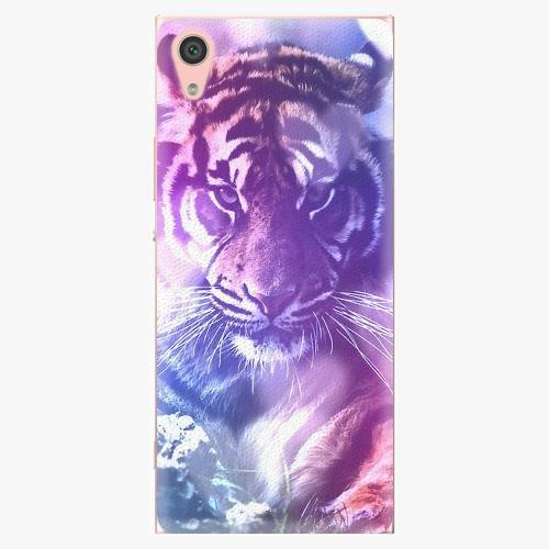 Plastový kryt iSaprio - Purple Tiger - Sony Xperia XA1