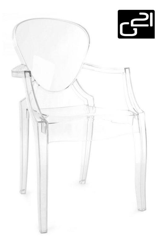 Designová židle G21 Pure Crystal transparent
