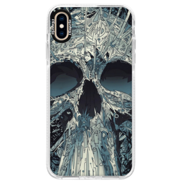 Silikonové pouzdro Bumper iSaprio - Abstract Skull - iPhone XS Max