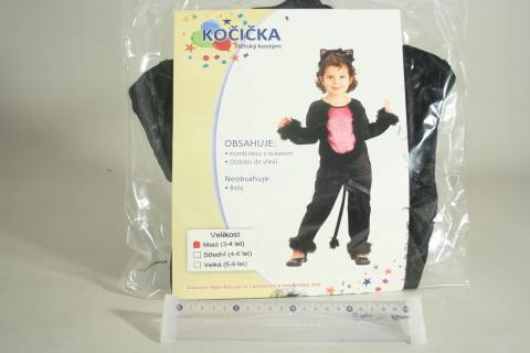 Šaty na karneval - Kočička, 92-104 cm