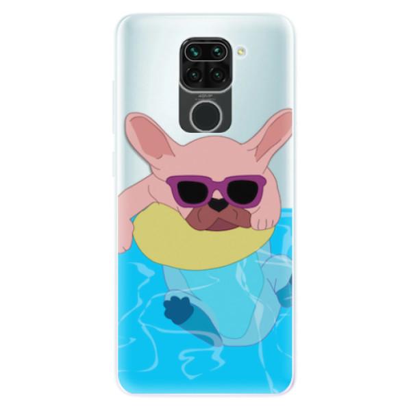 Odolné silikonové pouzdro iSaprio - Swimming Dog - Xiaomi Redmi Note 9
