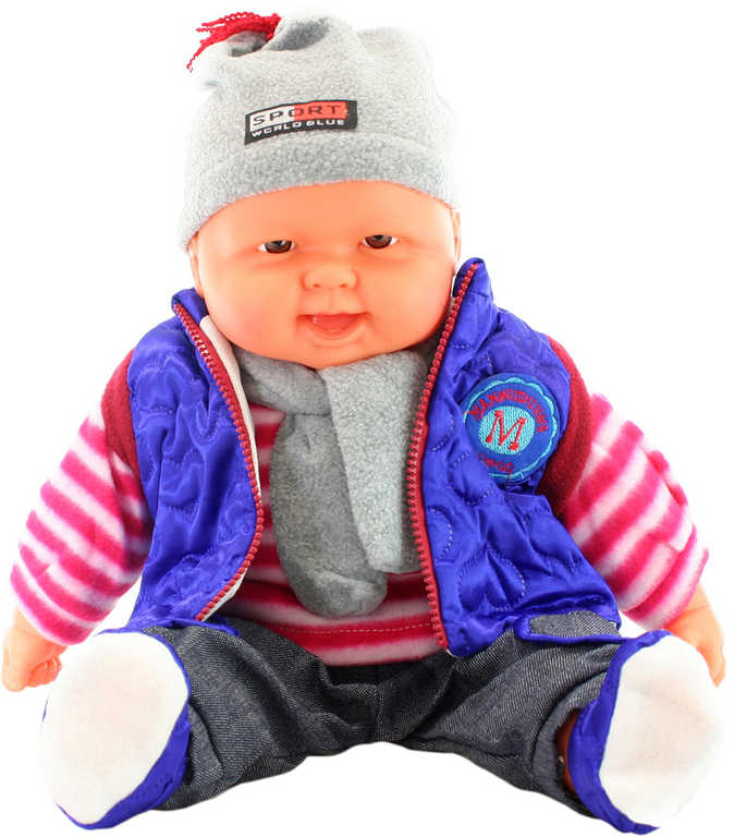Panenka miminko velké kluk 53cm zimní obleček měkké tělíčko