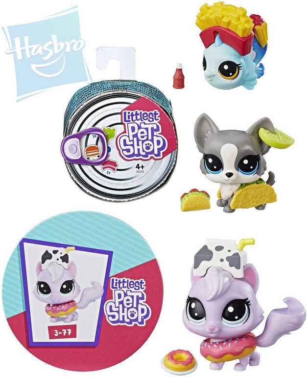 HASBRO LPS Littlest Pet Shop set zvířátko v konzervě + 3 doplňky - různé druhy