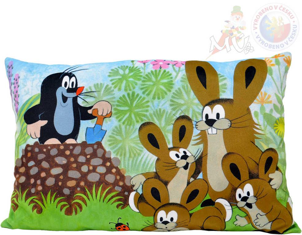 MORAVSKÁ ÚSTŘEDNA Polštář Krtek a zajíci (Krteček) 45x30cm PLYŠ