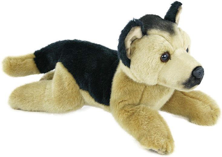 PLYŠ Pes Vlčák 30cm ležící *PLYŠOVÉ HRAČKY*