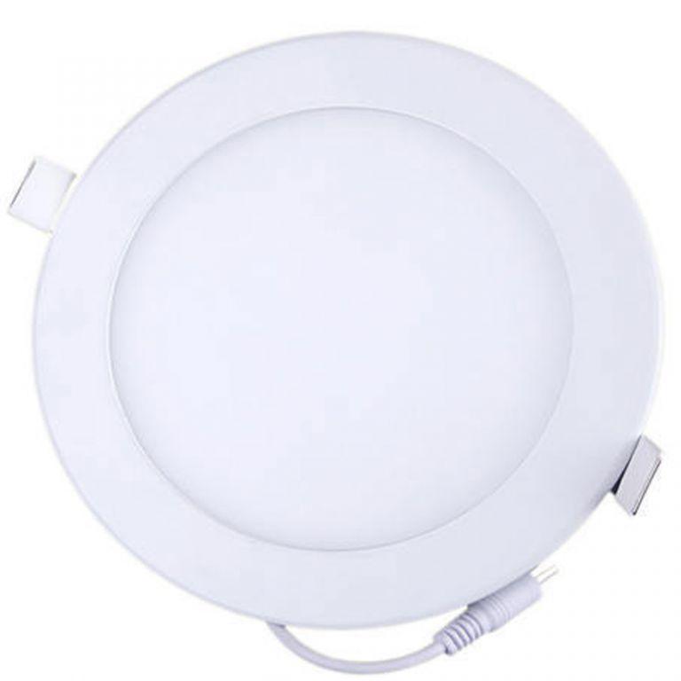 LED PANEL stropní kulatý 12W - studená bílá