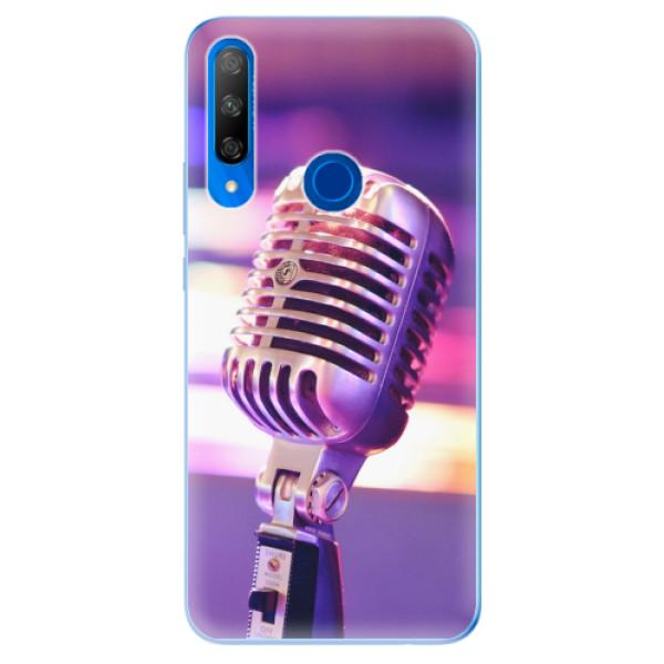 Odolné silikonové pouzdro iSaprio - Vintage Microphone - Huawei Honor 9X