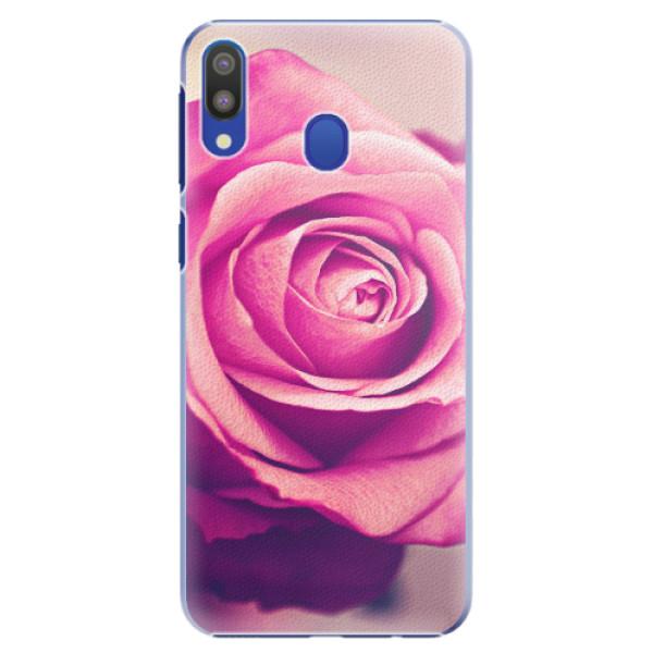 Plastové pouzdro iSaprio - Pink Rose - Samsung Galaxy M20