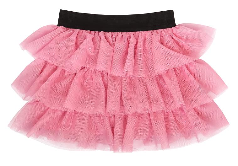 mamatti-kojenecka-tylova-sukne-princezna-puntik-ruzova-s-cernym-pasem-74-80