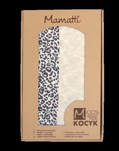 mamatti-detska-oboustranna-bavlnena-deka-s-minky-80-x-90-cm-gepardik-bila-se-vzorem