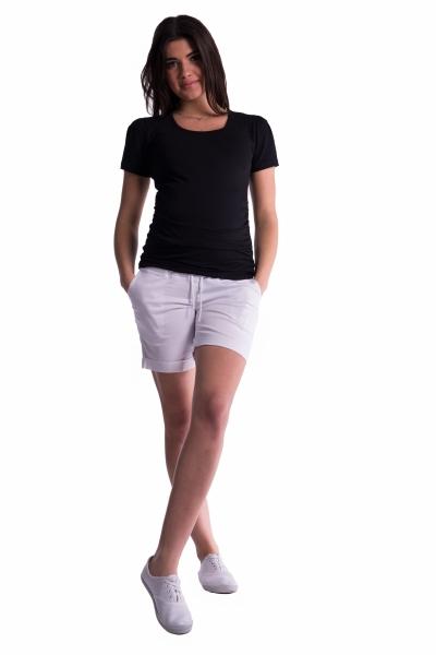 Těhotenské kraťasy s elastickým pásem