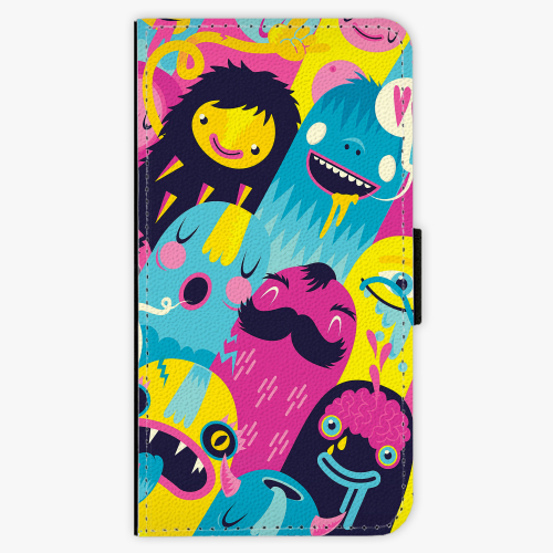 Flipové pouzdro iSaprio - Monsters - Samsung Galaxy J7 2016