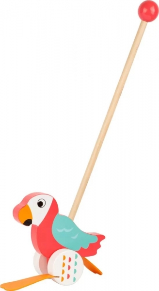 small-foot-drevena-jezdici-hracka-na-tyci-papousek