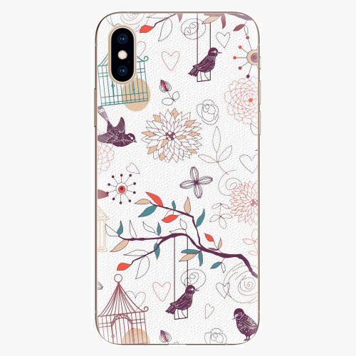 Silikonové pouzdro iSaprio - Birds - iPhone XS