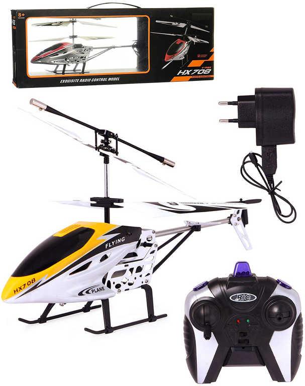 RC Vrtulník 24cm na vysílačku 2,4GHz na baterie 2 kanály různé barvy