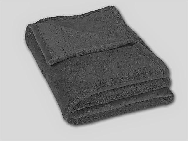 Micro deka jednolůžko 150x200cm tmavě šedá 300g/m2