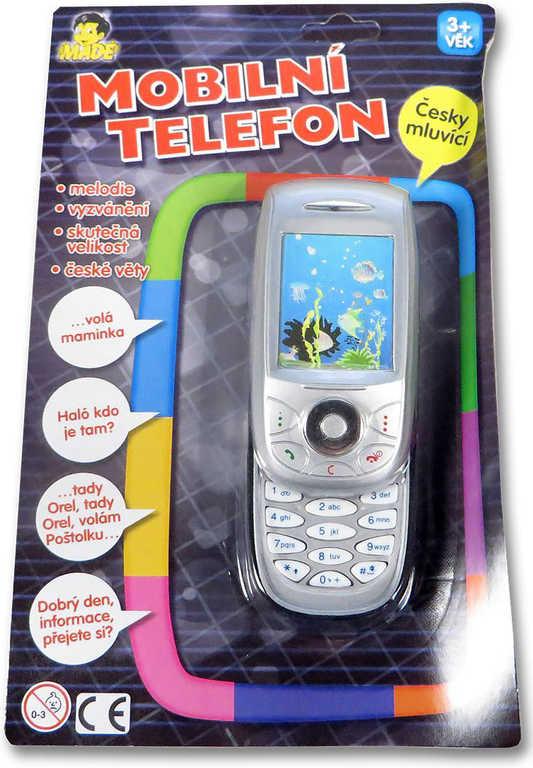 Telefon dětský mobilní 3D vysouvací skutečná velikost plastový na baterie CZ Zvu