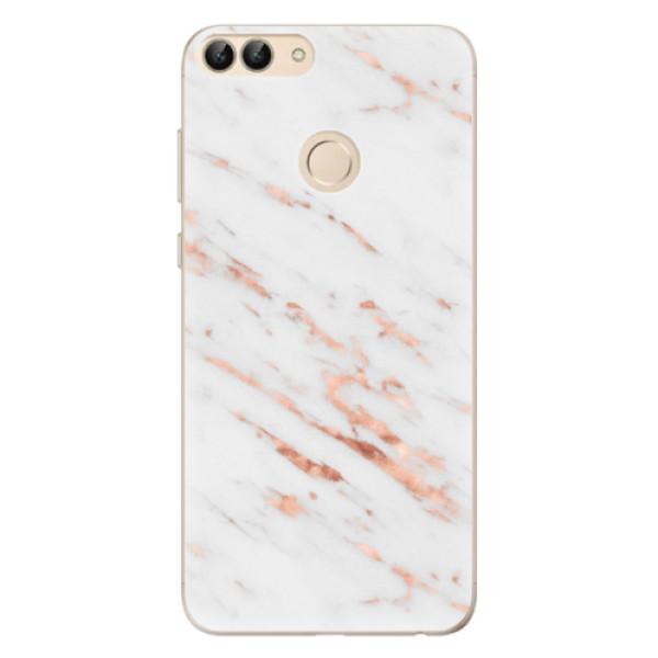 Odolné silikonové pouzdro iSaprio - Rose Gold Marble - Huawei P Smart