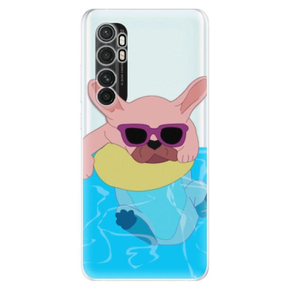 Odolné silikonové pouzdro iSaprio - Swimming Dog - Xiaomi Mi Note 10 Lite