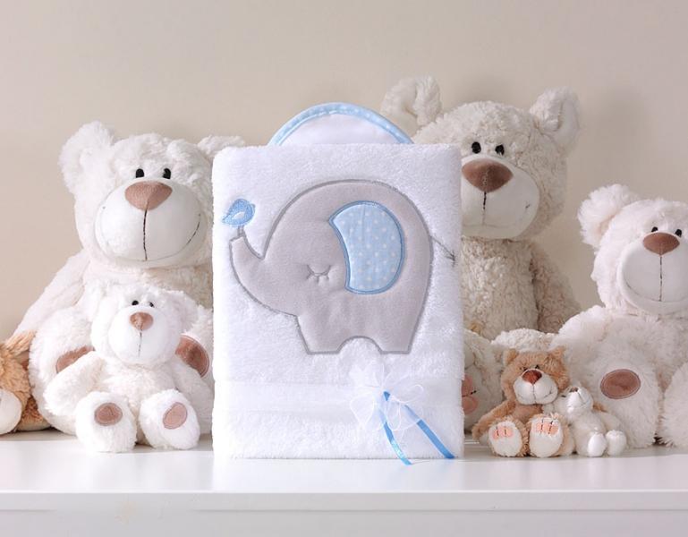 mamo-tato-decka-polar-lux-s-vysivkou-slon-modry-bila