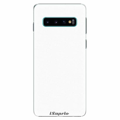 Plastový kryt iSaprio - 4Pure - bílý - Samsung Galaxy S10