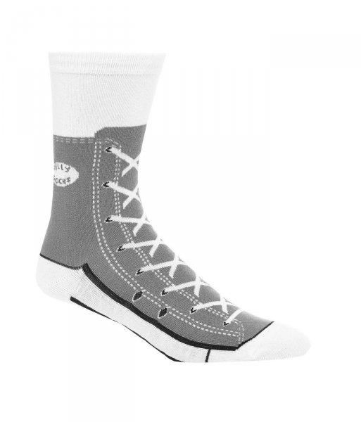 Bláznivé ponožky - basket - šedá