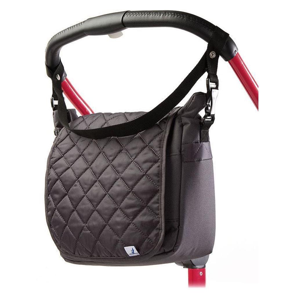 Prošívaná taška na kočárek CARETERO graphite - šedá