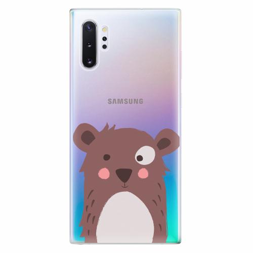 Silikonové pouzdro iSaprio - Brown Bear - Samsung Galaxy Note 10+