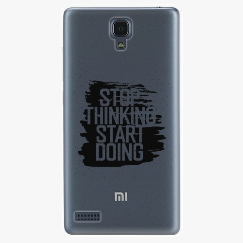 Plastový kryt iSaprio - Start Doing - black - Xiaomi Redmi Note