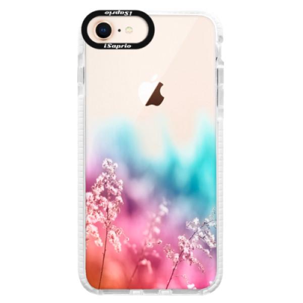 Silikonové pouzdro Bumper iSaprio - Rainbow Grass - iPhone 8