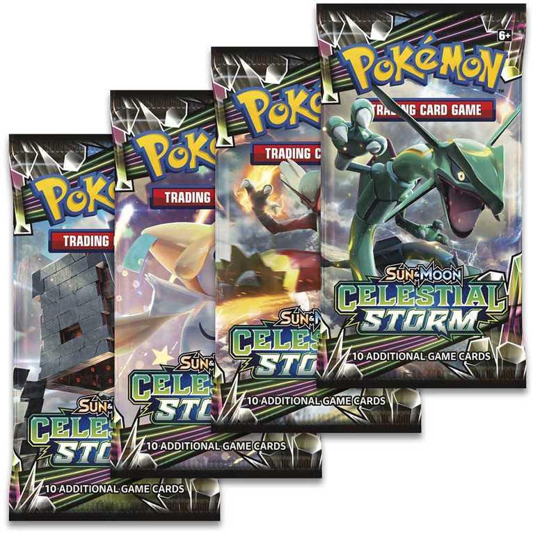 ADC HRA Karty doplňkové Pokémon SM7 Celestial Storm Booster 10 náhodných karet