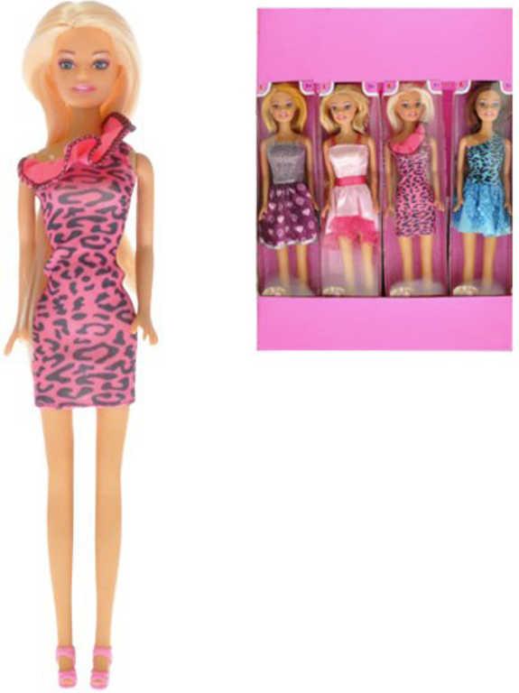 Panenka stylová 29 cm v krátkých trendy šatech - 4 druhy