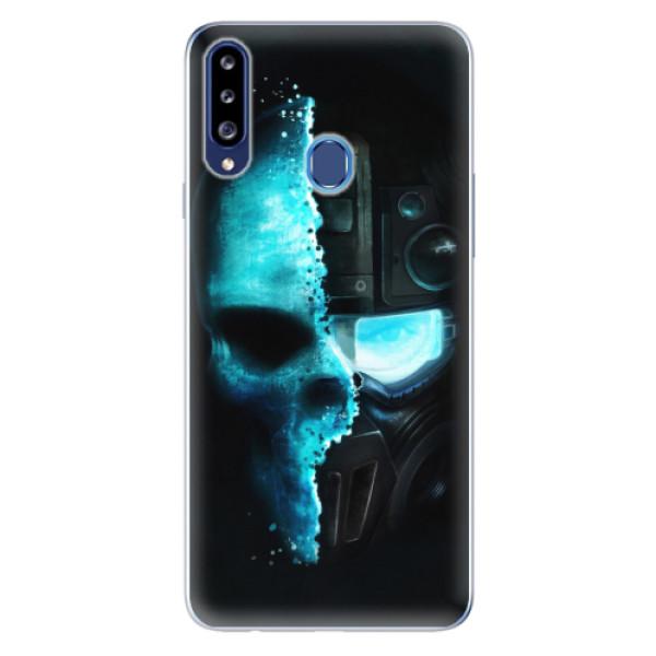 Odolné silikonové pouzdro iSaprio - Roboskull - Samsung Galaxy A20s